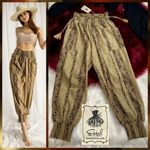 Easel Silky & Dressy Loose Paisely Jogger  Pants